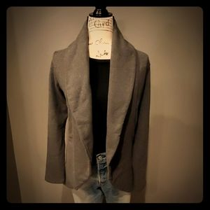 James Perse French Terry Draped Cardigan